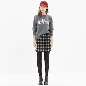 Madewell Shirttail Wool Skirt Sz 2
